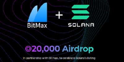 Solana (SOL) Airdrop nhân sự kiện Solana được list nên sàn Bitmax