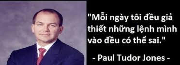 Các nhà đầu tư thành công - Paul Tudor Jones