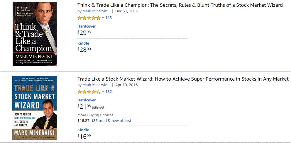 Sách của Minervini được đánh giá cao trên Amazon