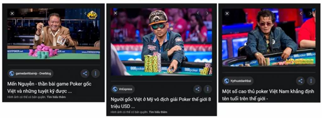 Nhiều người Việt Nam rất giỏi Poker