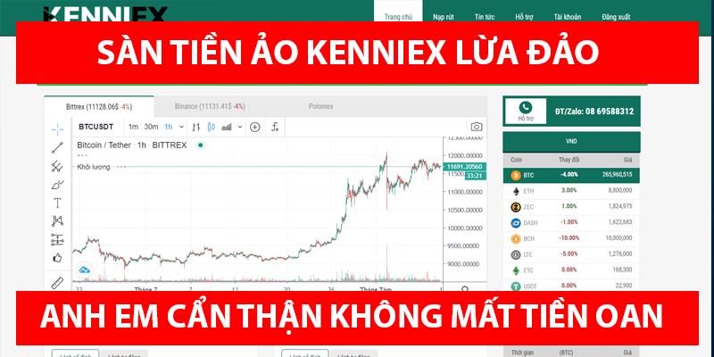 Sàn tiền ảo Kenniex đã có dấu hiệu lừa đảo scam rõ ràng - Anh em hãy cẩn thận