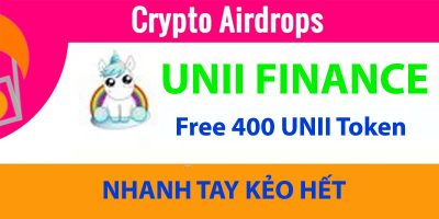 Hướng dẫn claim nhận 400 UNII token miễn phí - Liệu tương lai có thành UNI Token thứ 2