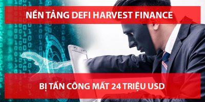 Nền tảng DeFi Harvest Finance Bị Tấn Công 24 Triệu USD, giá token FARM giảm 65% sau đó