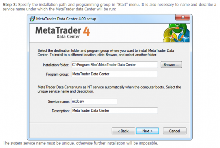 Cài đặt MetaTrade 4 - Step 3