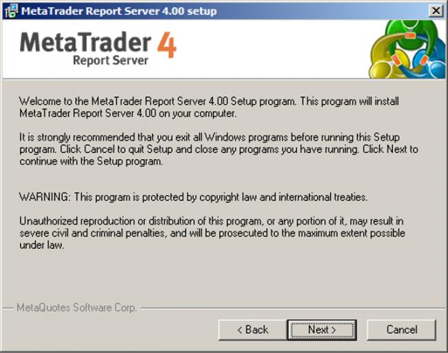 Cài đặt MetaTrader 4 Report Server